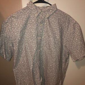 Men's Short Sleeved Button-Up Shirt